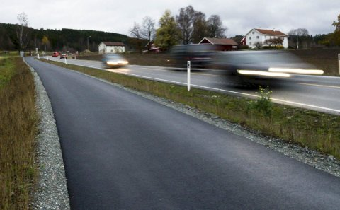 Sykkel- og gangvei.