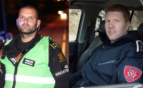 Rykket ut: Mattis Hambor og Tonny Jensen rykket ut til den alvorlige ulykken.