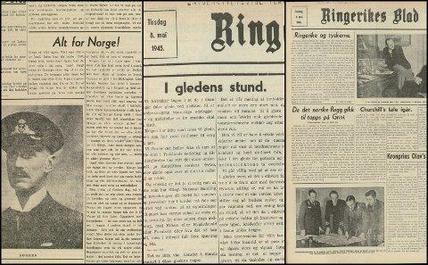 FRA 1945: Utklipp fra artikler som ble publisert tirsdag 8. mai.
