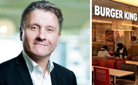 FÅR KRITIKK: Administrerende direktør i Burger King Norge, Rune Sandvik, sier selskapet tar tilbakemeldingene om restauranten i Hønefoss på det største alvor.
