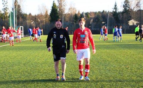 David Jansen (t.h.) sørget for en kjærkommen seier til Eirik Soltvedt og resten av Eidsvold IF.