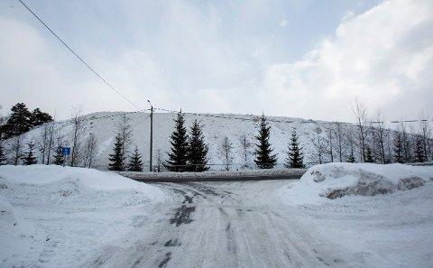 10 METER: Ifølge Roger Solli i Skedsmo kommune, måler snødeponiet i Lillestrøm 10 meter på det høyeste punktet.