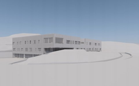 Slik ser Sydskogen skole ut når den står ferdig en gang ut i 2019.