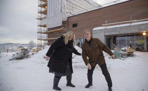 ØNSKER MER Å VELGE I: Nina Eirin M. Sørsdahl og Rolf Erik Hanisch i kulturkomiteen for nytt kirke- og kulturbygg.