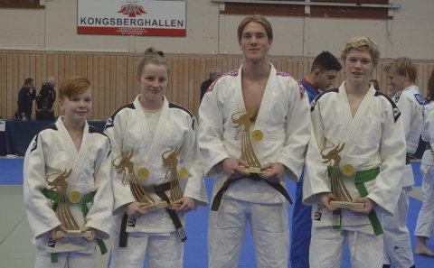Vant: SSK sine utøvere som vant NorgesCup 2017. Fra venstre Mats Eek Gerhardsen, Helene Eek Gerhardsen, Kornelius Oliver Eilertsen og Preben Væte Johansen.