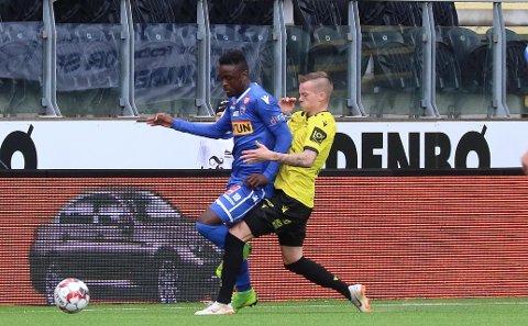 RASK: Brice Wembangomo løper fra de fleste og det gjør at han snart har en plass i Eliteserien, mener VG.