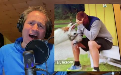 FARMEN: For komikeren Espen Rolstad er tv-programmet Farmen en gavepakke. Et av høydepunktene var da Jon Arne Riise satt å gråt sammen med en lama. Denne hendelsen er selvfølgelig blitt skrevt om i humorvisa til Rolstad.