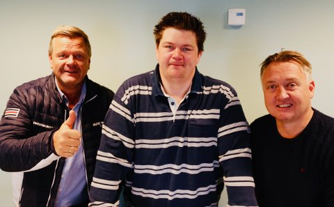 SA-podden: Bjørn Inge «Bingen» Nilsen, Patrick Walther Larsen og Petter Kalnes.