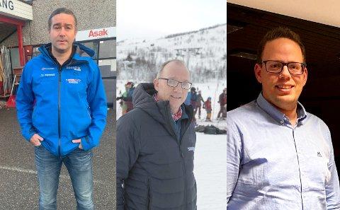 GÅVE: Olve Aaberge og Per Odd Grevsnes gir fire sesongkort til Sogndal Skisenter Hodlekve til Sogndal Kommune som dei kan distrubuera til dei som er dårlegare stilte.