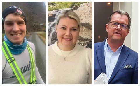 STYRER: Dag Einar Bøtun, Trude Ramstad og Sigurd Kvikne er alle styreleiarar i kvar sine selskap.
