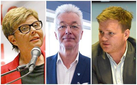 SNUR: Anne Gine Hestetun (Ap), Fylkesordførar Jon Askeland (Sp) og Aleksander Øren Heen (Sp) snur i skulesaka, og går no for to idrettsklassar ved Sogndal vidaregåande skule.