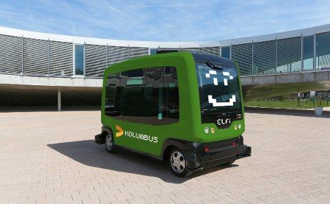 Den sjåførløse minibussen kjører i gjennomsnitt 25 kilometer i timen. Maksfart er 40 kilometer i timen.