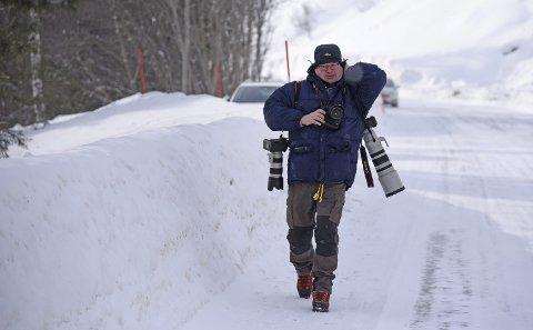 I TELEMARK: Da det i februar ble markert at det var 75 år siden tungtvannsaksjonen mot Vemork, var Torbjørn Kjosvold tilbake i hjemfylket sitt for å fotografere for Forsvaret. Foto: Bjørn Harry Schønhaug