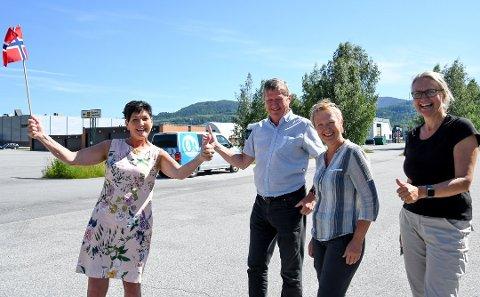 BLE HØRT: Ordfører Gry Fuglestveit, Ragnar Frøland, Janne Væringstad og Gunnhild Tveiten Garberg fra teknisk etat, tror arealdelen kan avgjøres i kommunestyret allerede 10. september.