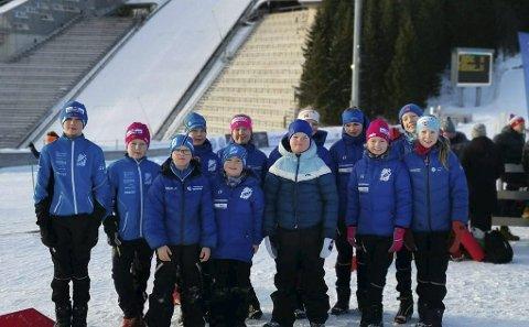 Kollen: Gransherad IL stilte med mange løpere i Oslo Skifestival i Holmenkollen. Gode resultater ble det også. (Foto: Privat)