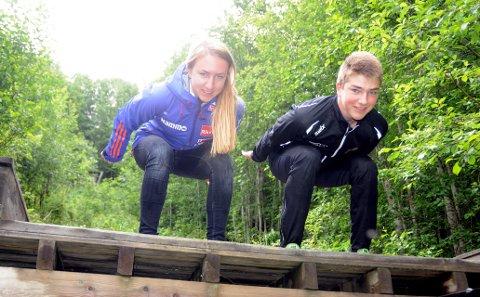 Skihoppere: Ingebjørg og Jostein Saglien Bråten er skihoppere, og gjorde det bra i norgescup i Knyken torsdag.