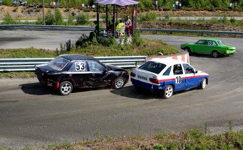 Kniving:  Stian Hoel (53) fra NMK Gjøvik, Glenn Are Nyberg (10) fra NMK Fluberg og Tommy Lie (55) fra KAK Kristiansand Automobil kjemper om plassene.