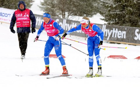Skal gå i helga: Her veksler Mari Eide (t.h.) med Maren Wangensteen i NM, men i helga er det individuelle konkurranser på Lygna.