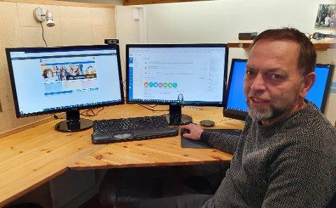 Snart på lufta: Arne Heimestøl er om eit par månaders tid på lufta med nye nettsider.