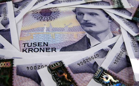 ØKNING: Den midterste bruttoinntekten i Norge har økt med 35 prosent på ti år. I Vestre Slidre kommune har den gått opp med 49,7 prosent. (Illustrasjonsbilde)