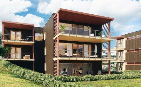 MODERNE: Ved Markagrensa i Gamle Skytta skal det bygges 15 nye selveierleiligheter.