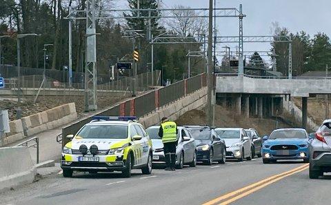 KØ: UP hadde sitt fulle hyre ved å skrive ut bøter til alle trafikksynderne på søndag ettermiddag.