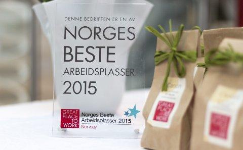 NORGES BESTE: Great Place to Work kårer hvert år de beste arbeidsplassene.
