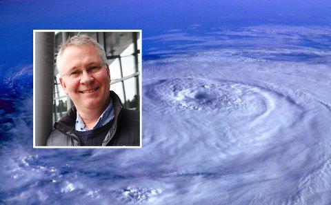 OPPFINNER: Gründer Olav Hollingsæters idé skal forhindre at orkaner blir livstruende.