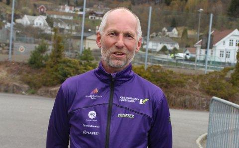 STERKT LØP: Tore Tjørnhom ble suveren gullvinner på seks kilometer i terreng-NM for veteraner i Frognerparken.