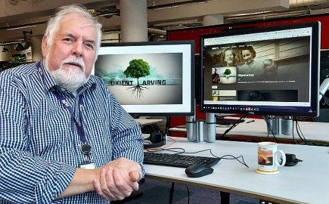 Oddbjørn Rosnes er prosjektleiar for NRK-serien «Ukjend arving». – Det er spennande og fascinerande å dukka ned i desse historiane, seier han.