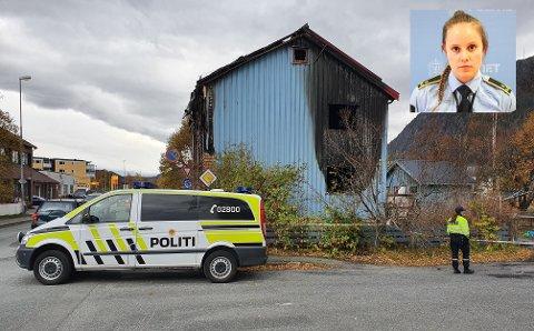 Etterforsker videre: Politifullmektig Trine Fjellstad Jakobsen (bildet) sier politiet etterforsker dødsbrannen i Mosjøen bredt. Mandag var det blant annet åstedsbefaring på brannstedet.