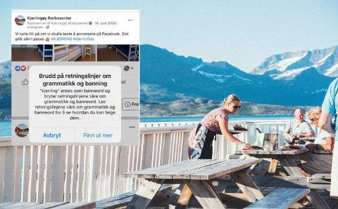 """""""Kjerring"""" anses som banneord og bryter retningslinjene til Facebook."""