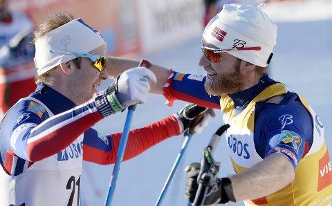 Sjur Røthe (t.v.) og Martin Johnsrud Sundby står hverandre nær. (Foto: Jon Olav Nesvold/NTB scanpix)