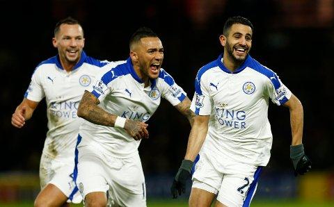 Riyad Mahrez scoret kampens eneste mål, og sørget for at Leicester økte forspranget til Arsenal og Tottenham.