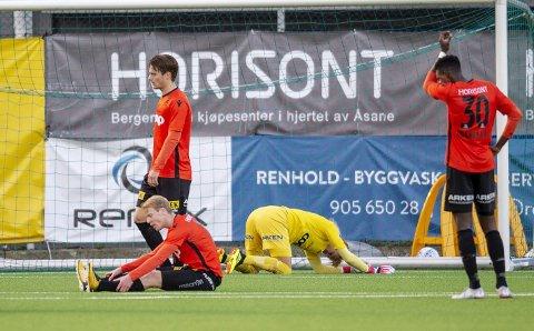 Åsanes 1. divisjonslag må ut i kvalifisering mot KFUM for å unngå nedrykk til 2. divisjon. Laget har slitt foran begge målene denne sesongen. ARKIVFOTO: EIRIK HAGESÆTER