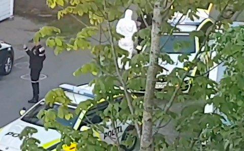 Etter pågripelsen pinseaften ble 20-åringen ikledd en hvit kjeledress. Nå mener retten at mistanken mot mannen er styrket.