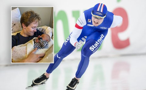 Sverre Lunde Pedersen nyter livet i Stavanger. Her da han fikk sønnen Svein, som er oppkalt etter skøyteløperens morfar.