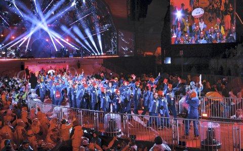 Special Olympics arrangeres året før OL, og nå er Vestland idrettskrets med på en søknad om å få arrangementet til Norge. Dette bildet er fra åpningsseremonien under Special Olympics i 2017.