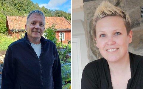 Jan-Egil Ledaal Johansen (t.v.) i Domstein Sjømat og Inger Lise Rettedal i Klostergarden.