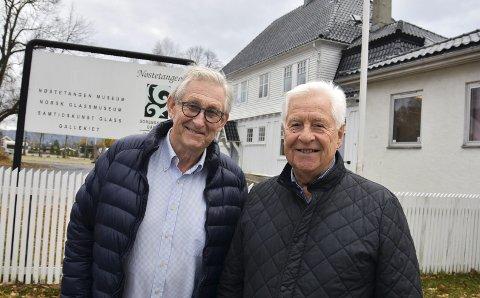MÅLRETTET: Nestleder Knut Førland (t.v.) og leder Jan E. Skretteberg i Stiftelsen Nøstetangen og Venneforeningen.