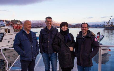 Bilde av aksjonsgruppa sitt første møte på Knutholmen: Per Røys, Steinar Ryland, Jorunn Frøyen og Jan Fredrik Fosse.