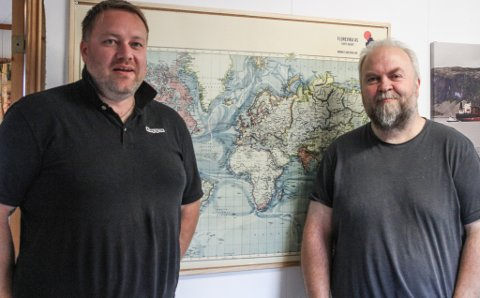 NYE I BY'N: Florevika AS er byens nye skipsagent. Jan Roar Hatlem og Håvard Henriksen har vore involverte i rundt 250 små og store oppdrag sidan starten for eitt år sidan.