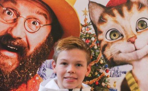 Spiller katt: Magnus Moen har stemmen til katta Findus i filmen om gubben og katten.