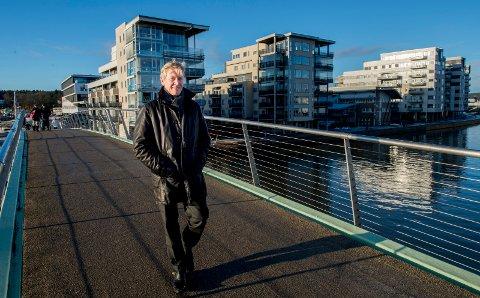 BYGGEPAUSE: – Vi har hatt god aktivitet i selskapet, men det var ingen byggekraner på Værste-området i 2019. Det gjør at tallene i regnskapet blir lavere, sier Værste-direktør Trond Delbekk.