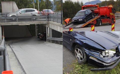STOPPET MED SPIKERMATTE: På parkeringshuset rømte tyvene fra politiet, men det ble brått stopp da politiet brukte spikermatte ved Orneshaugen.