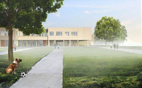 NYTT NAVN: Kongsvinger ungdomsskole blir trolig navnet på den nye felles ungdomsskolen i sentrum. ILLUSTRASJON: HLM ARKITEKTUR