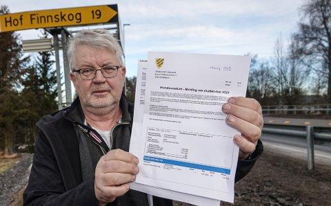 HARME: – Det er harme på skogen nå, sier Asbjørn Venberget. Han får en økning i eiendomsskatten med 123 prosent.