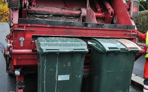 IKKE I ÅR: Det legges ikke opp til noen gebyrøking for søppeltømming i år. Arkiv