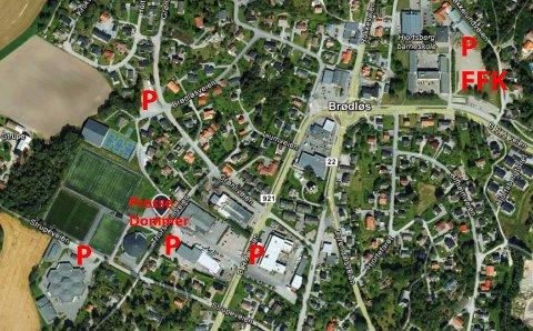 PARKERING: Kvik Halden forventer bra med folk til cupkampen mot FFK onsdag. Det legges opp til parkering ved Strupe ungdomsskole, ved Felleskjøpet, ved tennisbanen og på grusplassen ved Hjortsberg skole.