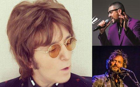 AVLYST: John Lennon Songbook (t.v.), A tribute to George Michael (øverst til høyre) og Beckstrøm Kvartett er kansellert fra høstprogrammet til Brygga kultursal.